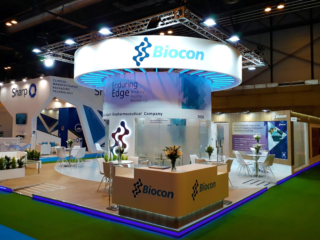 Biocon pharma trade show boothbooth