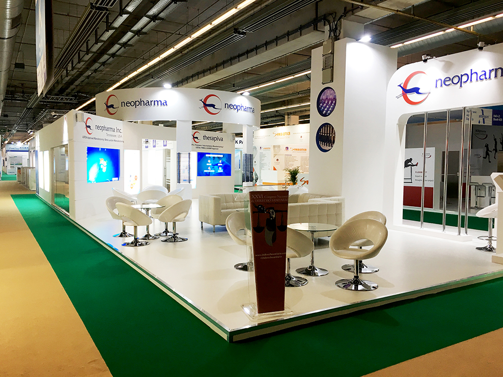 neopharma exhibition design 147sqm cphi worldwide 2019